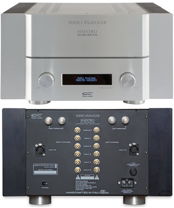 Audio Analogue Maestro Duecento versterker black